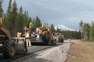 Cascade Lakes Highway Paving